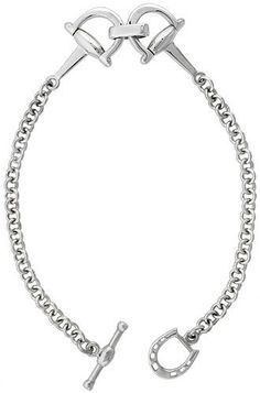 Caracol - Inspired Jewelry and Handbags - Sterling Silver Full Cheek Snaffle Bit Bracelet N Chain N Horseshoe, $74.00 (http://www.caracolsilver.com/sterling-silver-full-cheek-snaffle-bit-bracelet-n-chain-n-horseshoe/)
