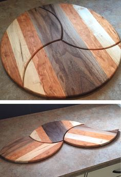 Sectional Cutting/Serving Board Set. Walnut, Maple,& Cherry. 1979woodwork.com