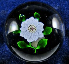 Baccarat Antique Clematis Paperweight