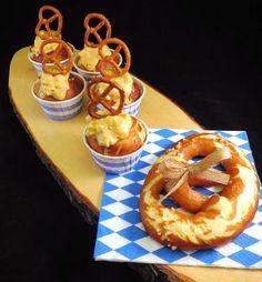 Oktoberfest-Rezepte von Kathls Backstum - Obazda Cupcakes