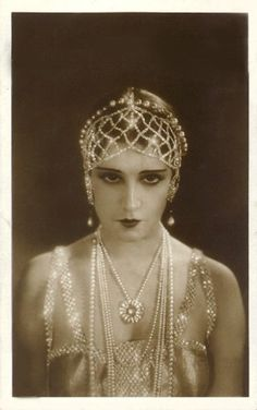 Pearl and crystal headdress - 1920's