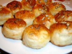 Slovak Recipes, Party Finger Foods, Savoury Dishes, Biscuits, Muffin, Food And Drink, Appetizers, Pizza, Bread