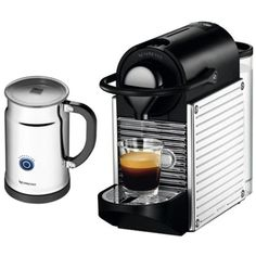 Special Offers - Nespresso AC60-US-SS-NE Pixie Espresso Maker with Aeroccino Plus Milk Frother Chrome - In stock & Free Shipping. You can save more money! Check It (May 15 2016 at 06:07PM) >> http://standmixerusa.net/nespresso-ac60-us-ss-ne-pixie-espresso-maker-with-aeroccino-plus-milk-frother-chrome/