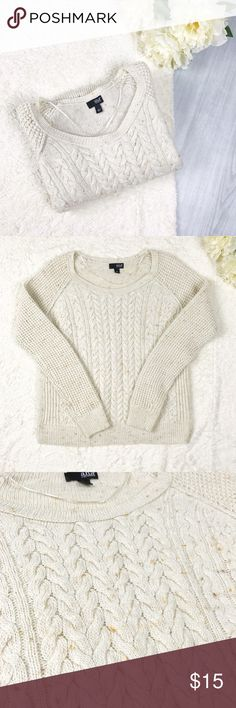 a.n.a Cream Knit Sweater a.n.a Cream Knit Sweater  Size L Great Used Condition!  Perfect for transition seasons!   Fits like a medium! a.n.a Sweaters Crew & Scoop Necks