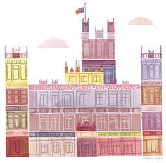 Marisa Seguin Illustration & Design: DOWNTON ABBEY