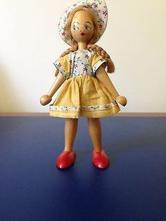 1960s Polish Wooden Doll | eBay