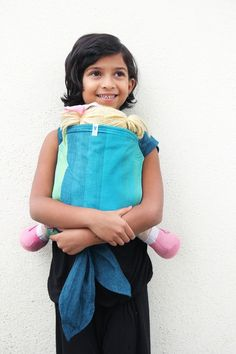732abb53ab0 Peace on Blue Doll Meh Dai Made from the same baby-friendly 100% pure  cotton as other Soul baby carriers