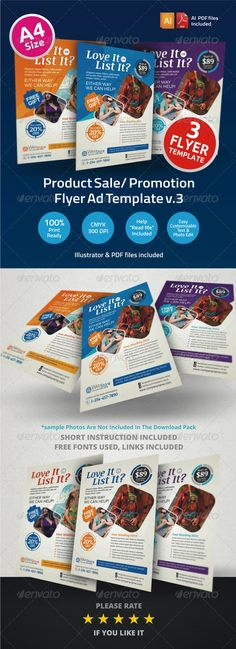 Product Sale/ Promotion Flyer Ad Template v3 - Corporate Flyers