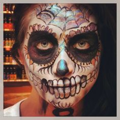 Another day at the office! Face paint Day of the Dead promotion for Corona by MAB Ventures Inc. Artist Monika Blichar model: Tasha Bookings: 604 999 6177