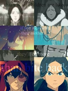 That's what children are like, if you mess with their mother, they'll do more than bite back, text, Zuko, Katara, sad, crying; Avatar: the Last Airbender