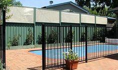 colourbond fence privacy screen - Google Search