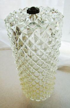 Vintage Pressed Glass Pendant Light Shade by PurpleSquirrelShop