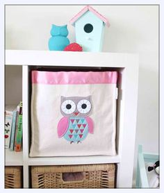 forwalls owl storage basket that fits ikea bookcase $50
