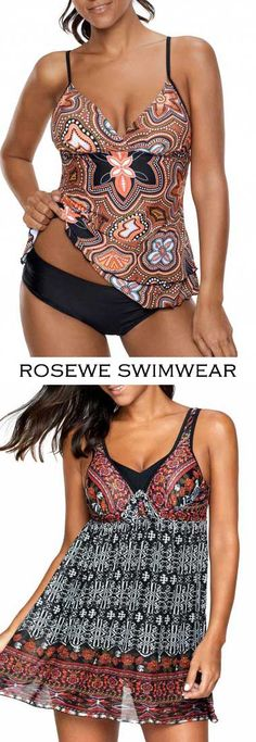 Cute tankinis and swimdress for women at Rosewe.com, free shipping worldwide, check them out.