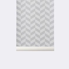 Wallpaper in Children's Room: Angle Wallpaper - Grey design by Ferm Living