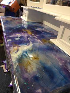 Liquid glass over unicorn spit!! Love this!