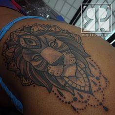 Lion Mandala ||| A little Black and Grey today on @1conik_ ||| ||| Call or Text…
