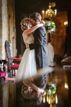 Rachel wears a Lusan Mandongus gown for her Durham Castle Wedding. 2Tone Creative Photography.