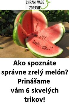 Ako spoznáte správne zrelý melón? Prinášame vám 6 skvelých trikov! Cantaloupe, Vegetables, Fruit, Food, Essen, Vegetable Recipes, Meals, Yemek, Veggies