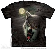 Night Breed Wolf T-Shirt - Wolf T-Shirts - Big Face Wolf T-Shirts - Wolves on t-shirts - wolf shirts - beautiful wolves - animal shirts with wolves - christmas presents - ideas for christmas presents