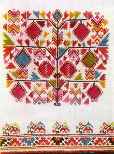 Female clothes and embroidery. The colors of Bulgarian folk costume. Samokov region ✳8