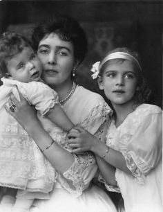 Princess Margaret of Connaught with her children Prince Carl Johann, and Princess Ingrid, who later became Queen of Denmark