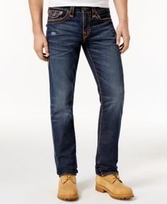 True Religion Men's Super T Geno Slim-Fit Jeans - Blue 36