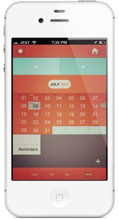 Calendar Iphone Application by Rovane Durso, via Behance