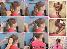 Girly DIY Pull Through Braid Tutorial