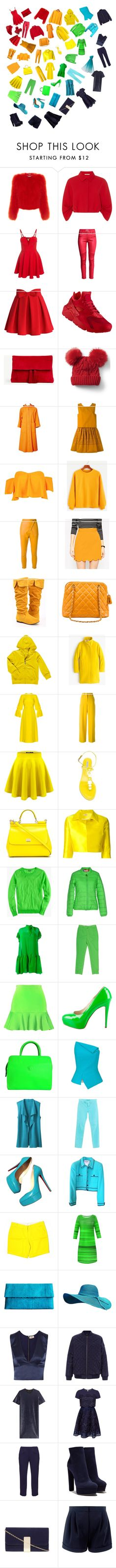 """the all colors is beautiful"" by gofran10 ❤ liked on Polyvore featuring Alexander McQueen, Emilia Wickstead, Chicwish, NIKE, Ann Taylor, Gap, Fendi, Boohoo, Manning Cartell and Chanel"