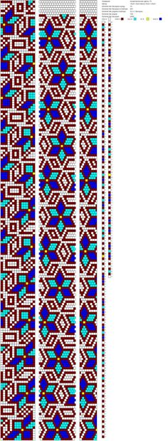 15 The middle pattern is a peyote pattern for bracelet. Crochet Bracelet Pattern, Crochet Beaded Bracelets, Bead Crochet Patterns, Seed Bead Patterns, Bead Crochet Rope, Beaded Bracelet Patterns, Beading Patterns, Beaded Crochet, Necklaces