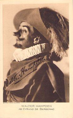 Hampden, Walter - Signed Photo Postcard