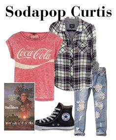 """Sodapop Curtis-The Outsiders"" by thefeels1456 ❤ liked on Polyvore featuring Abercrombie & Fitch, Rails and Converse"