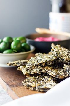 Easy five seed crackers (vegan and gluten free).