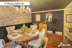"""Sala de jantar"", da arquiteta Marcia Mileo.  #MostraAdornie2014 Foto: Nenad - Estúdio Fotográfico"