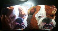 Brewski created in torn paper. Custom Pet Portraits