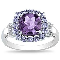 @Overstock - Amethyst, tanzanite and diamond ringSterling silver jewelryClick here for ring sizing guidehttp://www.overstock.com/Jewelry-Watches/Miadora-Sterling-Silver-Amethyst-Tanzanite-and-Diamond-Accent-Ring/6284677/product.html?CID=214117 $82.99
