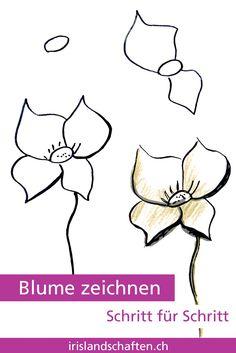 pflanzen zeichnen schritt f r schritt 30 tage challenge in der gartengestaltung pinterest. Black Bedroom Furniture Sets. Home Design Ideas