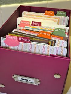 images about greeting card organization