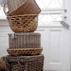 Brown baskets on white. Doesn't get any better!