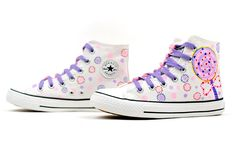 Lollipops Doodle Hand Painted High Top Canvas Sneaker Shoes,High-top Painted Canvas Shoes