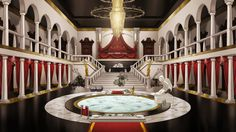 mansion anime interior main hall episode royal google castle interactive backgrounds mansions inside naruto cartoon houses sacred nueve colas gear