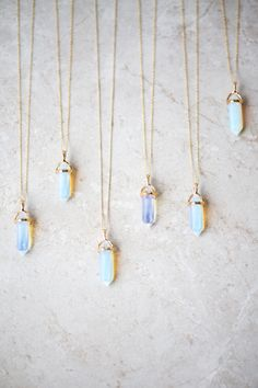 Lovoda - Opal Crystal Point Necklace, $35.00 (http://www.lovoda.com/opal-crystal-point-necklace/)