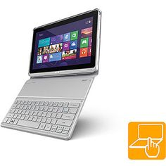 """Acer Ultrabook Silver 11.6"""" Aspire P3-131-4602 Laptop PC with Intel Pentium 2129Y Processor, 4GB Memory, 60GB SSD Hard Drive, Touchscreen and Windows 8"""