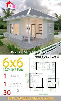 Simple House Plans, Simple House Design, Tiny House Plans, Tiny House Design, Best House Plans, One Room Houses, 1 Bedroom House Plans, House Construction Plan, House Blueprints