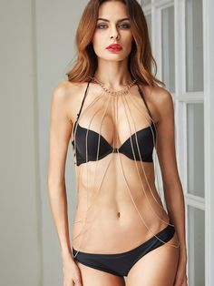 Shop Gold Layered Sexy Body Chain online. SheIn offers Gold Layered Sexy Body Chain & more to fit your fashionable needs.
