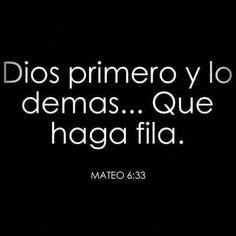 Dios primero