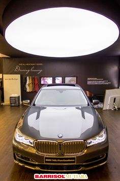 Barrisol custom light feature at The BMW 7 Series at GIIAS 2016. Barrisol® membrane: 04030 Athena  © PT Mutiara Desain Grup