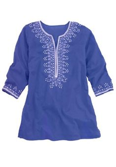 40% Off was $49.77, now is $29.77! Chelsea Studio Plus Size Tunic Top With Sequin Embroidery