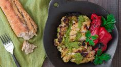 Make this Mojo Verde Chicken recipe using cilantro, garlic, green chilies and lime juice. Find the marinade and sauce recipe at PBS Food.
